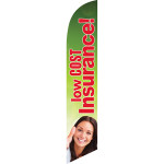 Low Cost Insurance (green background) Semi Custom Feather Flag Kit
