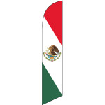 Mexican Flag (diagonal color) Semi Custom Feather Flag Kit