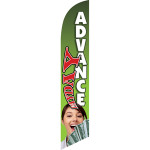 Payday Advance (green background) Semi Custom Feather Flag Kit