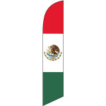 Mexican Flag (horizontal colors) Semi Custom Feather Flag Kit