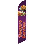 tacos y burritos food truck flag