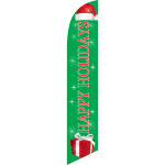 happy holidays red and green Christmas sign