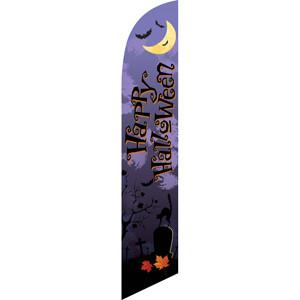 happy halloween purple sign