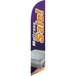 Mattress Sale (purple background) Semi Custom Feather Flag Kit