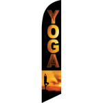 Yoga (black background, yoga practitioner) Semi Custom Feather Flag Kit