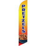Pretzels (orange-yellow background) Semi Custom Feather Flag Kit