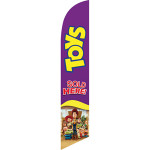 Toys (purple background) Semi Custom Feather Flag Kit