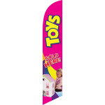 Toys (magenta background) Semi Custom Feather Flag Kit