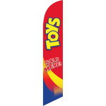 Toys (red background) Semi Custom Feather Flag Kit