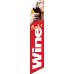 Wine Tasting (red background) Semi Custom Feather Flag Kit