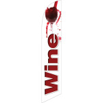 Wine (white background) Semi Custom Feather Flag Kit