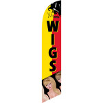 Wigs (yellow and red background) Semi Custom Feather Flag Kit