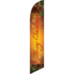 Merry Christmas (pine cones) Semi Custom Feather Flag Kit