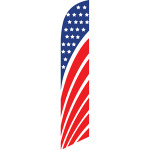 American Flag perspective feather flag advertising