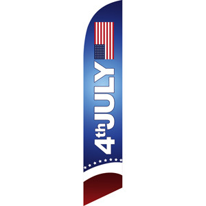 4th of July Feather Flag Advertising