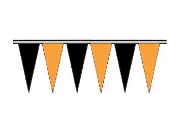 Orange and Black Economy Icicle Pennants