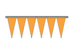 Orange Economy Icicle Pennants 4 mil