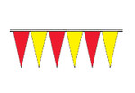 Red and Yellow Economy Icicle Pennants 4 mil