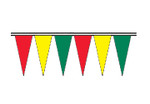 Red, Yellow and Green Economy Icicle Pennants 4 mil