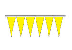 Yellow Economy Icicle Pennants 4 mil