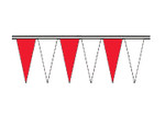 Red and White Regular Icicle Pennants