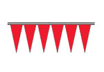 Brilliant Red Fluorescent Icicle Pennants