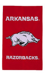 University of Arkansas Appliqued Garden Flag (new)