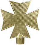 Fireman's Gold Metal Maltese Cross