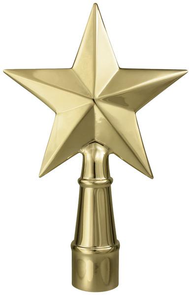 Metal Texas Star Gold Ornament