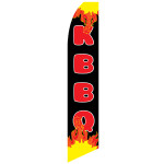 K BBQ Feather flag Korean