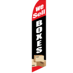 WE SELL BOXES Feather Flag