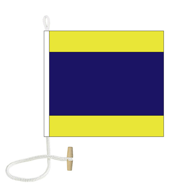 D International Code Signal Flag (Rope and Toggle)