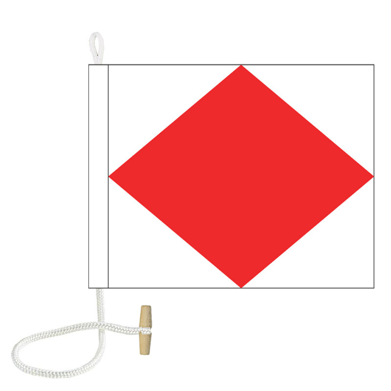 F International Code Signal Flag (Rope and Toggle)