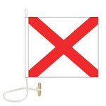 V International Code Signal Flag (Rope and Toggle)