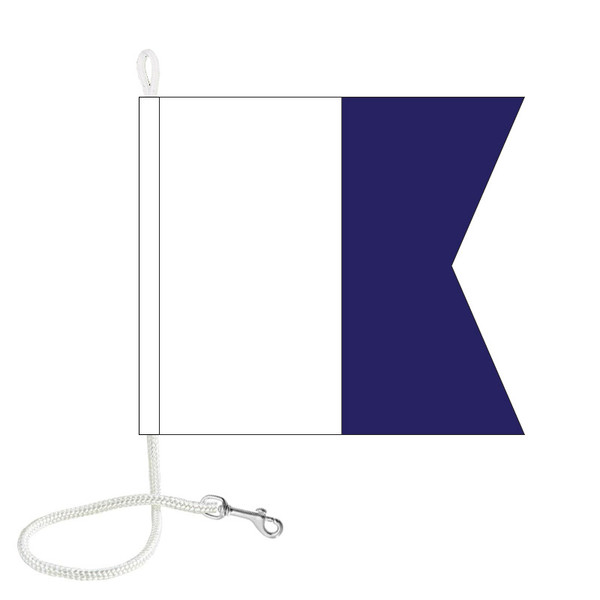 A International Code Signal Flag (Rope and Snap Hook)
