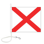 V International Code Signal Flag (Rope and Snap Hook)