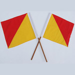 Semaphore Signal Flag Red and Yellow Set Of 2