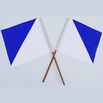 Semaphore Signal Flag Blue and White Set Of 2