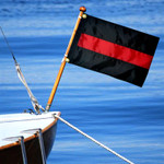 Thin Red Line Boat/Motorcycle Flag