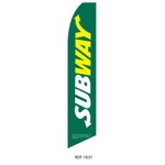 Subway Feather Flag green