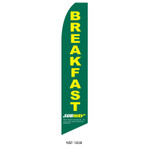 Subway Breakfast Feather Flag green
