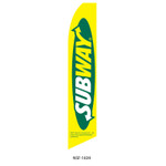 Subway Feather Flag yellow green