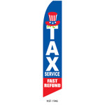 Tax Service Fast Refund Feather Flag