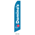 Domino's Pizza Feather Flag blue