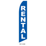 Rentals Feather Flag blue