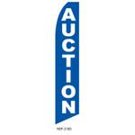 Auction Feather Flag blue