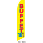 Buffet Feather Flag