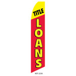 Title Loans Feather Flag red