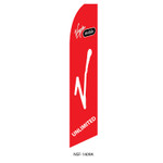 Virgin Mobile Feather Flag red