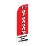 1-2 BR Apartment 6ft Feather Flag red